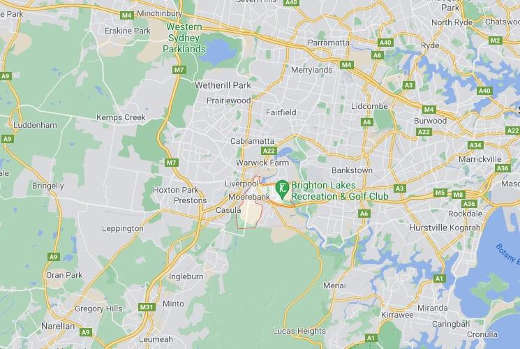 Moorebank Map Area